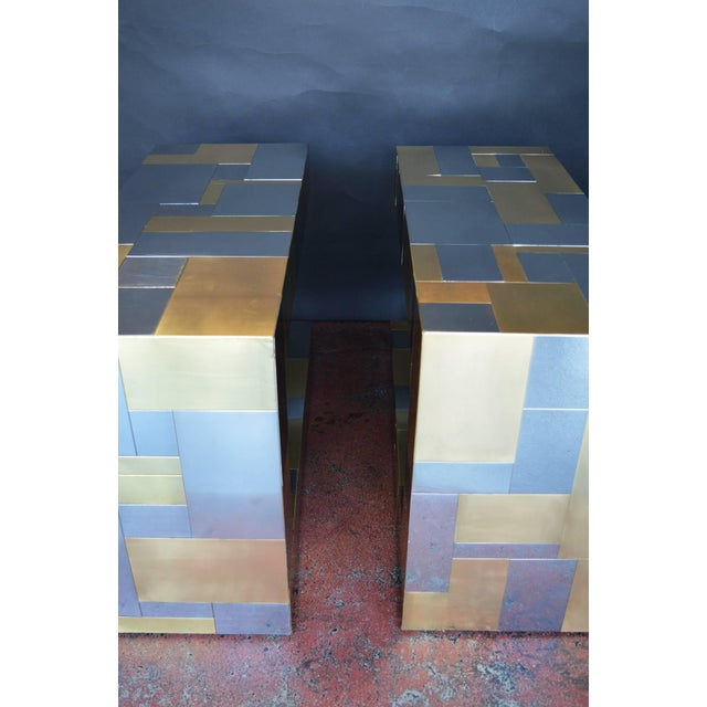 Pair of Paul Evans Cityscape Side Tables For Sale In Los Angeles - Image 6 of 9