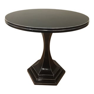 Art Deco Arteriors Home Black Lacquer Side Table For Sale