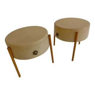 Pair of Molded Fiberglass Light Tables by Bill Lam For Sale