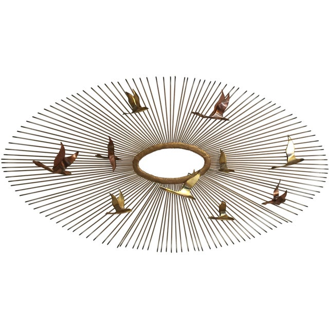 Curtis Jere Style Wall Hanging Sunburst Sculpture - Image 1 of 5