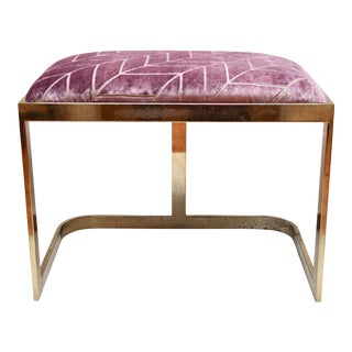 Brass Cantilevered Vanity Stool