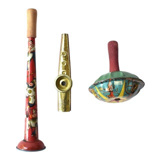 Collection of Vintage 1930s Noisemakers - Set of 3 For Sale