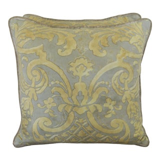 Vintage Carnavalet Fortuny Pillows-A Pair For Sale