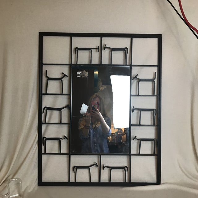 Cast Iron Animal Mirror For Sale In New York - Image 6 of 6