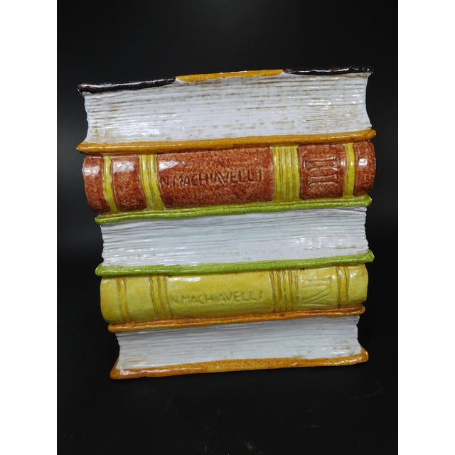 Vintage Italian Terracotta Stacked Books Garden Stool - Image 9 of 11