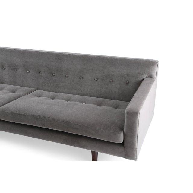 Dunbar Furniture Edward Wormley for Dunbar Bracket Back Sofa in Mohair For Sale - Image 4 of 8