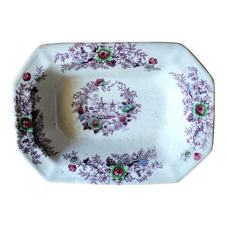Antique Tyrol Ironstone Serving Dish For Sale