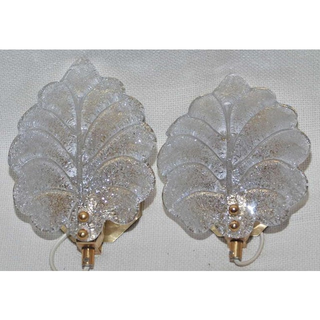Mid-Century Modern Pair of Sconces Probably Orrefors For Sale - Image 3 of 7