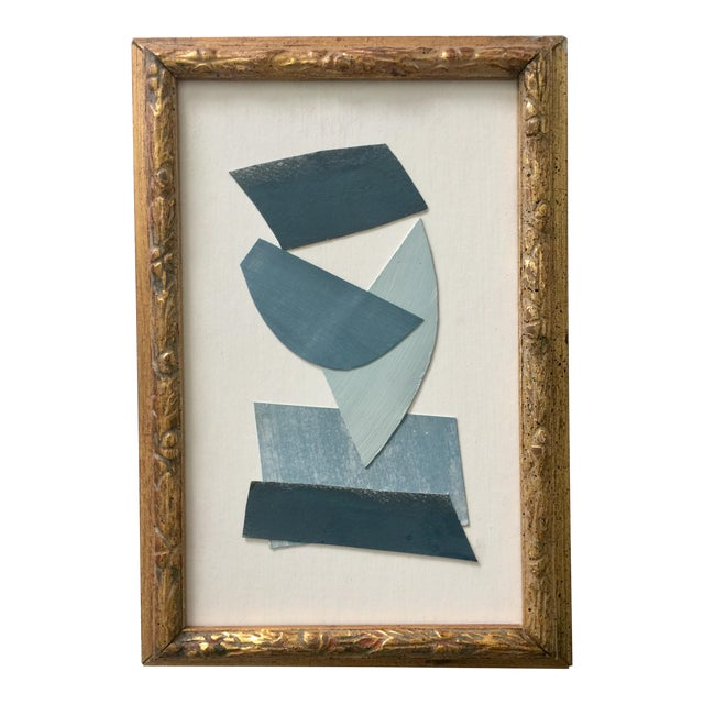 Blue and White Collage Vintage Frame For Sale
