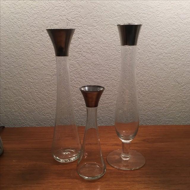 Dorothy Thorpe Silver Band Vases - Set of 3 - Image 2 of 11