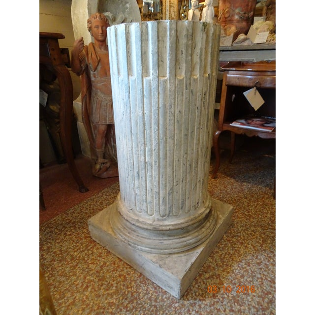 Early 20th Century Vintage French Fluted Wood Pedestal For Sale - Image 5 of 10