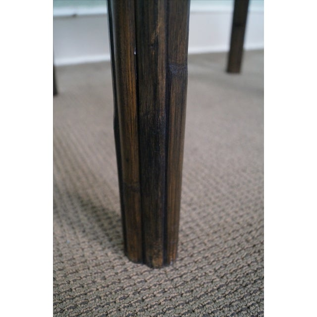 McGuire McGuire Vintage Bamboo Rattan Dining Table For Sale - Image 4 of 10