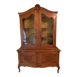 French Country Louis XV China Hutch - a Pair For Sale