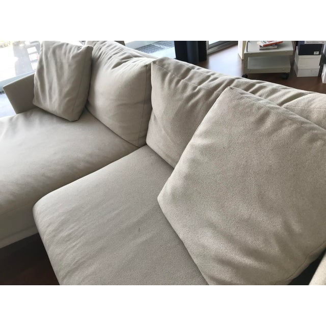 Tan Modern Design Within Reach Camber Compact Sectional Sofa For Sale - Image 8 of 12