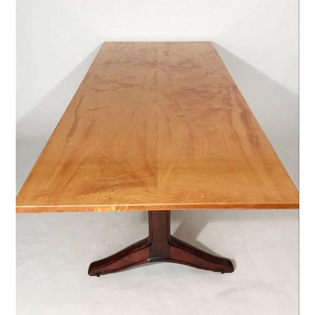 Custom Trestle Dining Table designed by Jack Dunbar For Sale - Image 4 of 6