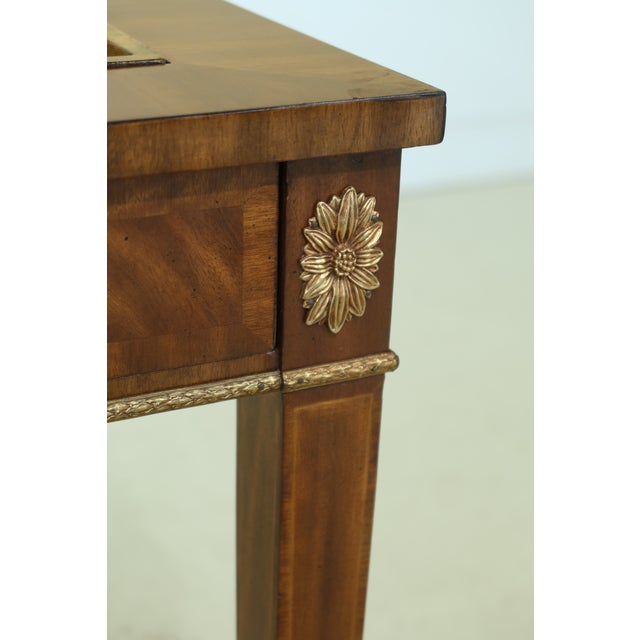 Maitland Smith Square Mahogany Games Table W. Reversible Top For Sale In Philadelphia - Image 6 of 12