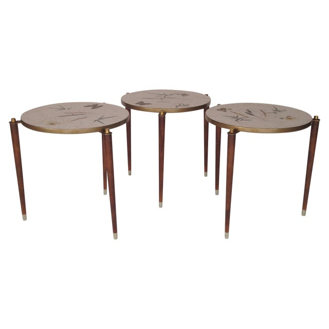 Fornasetti Style Stacking Tables - Set of 3 - Image 1 of 8