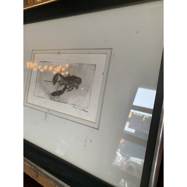 1940s Framed Lobster Print For Sale - Image 5 of 6