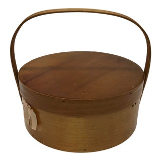 Antique Birchwood Sewing Basket For Sale