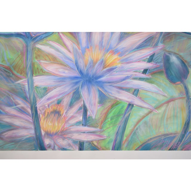 Large Tropical Flowers Color Pastel Drawing #1 by Patricia McGeeney For Sale In Chicago - Image 6 of 8