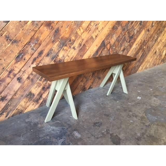 Angle Leg Wood Table Bench - Image 5 of 6