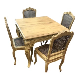 Vintage French Provincial Dining Set For Sale