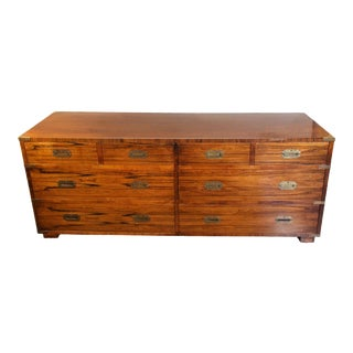 20th Century Campaign John Stuart Dresser Chest of Drawers in Rosewood & Brass For Sale