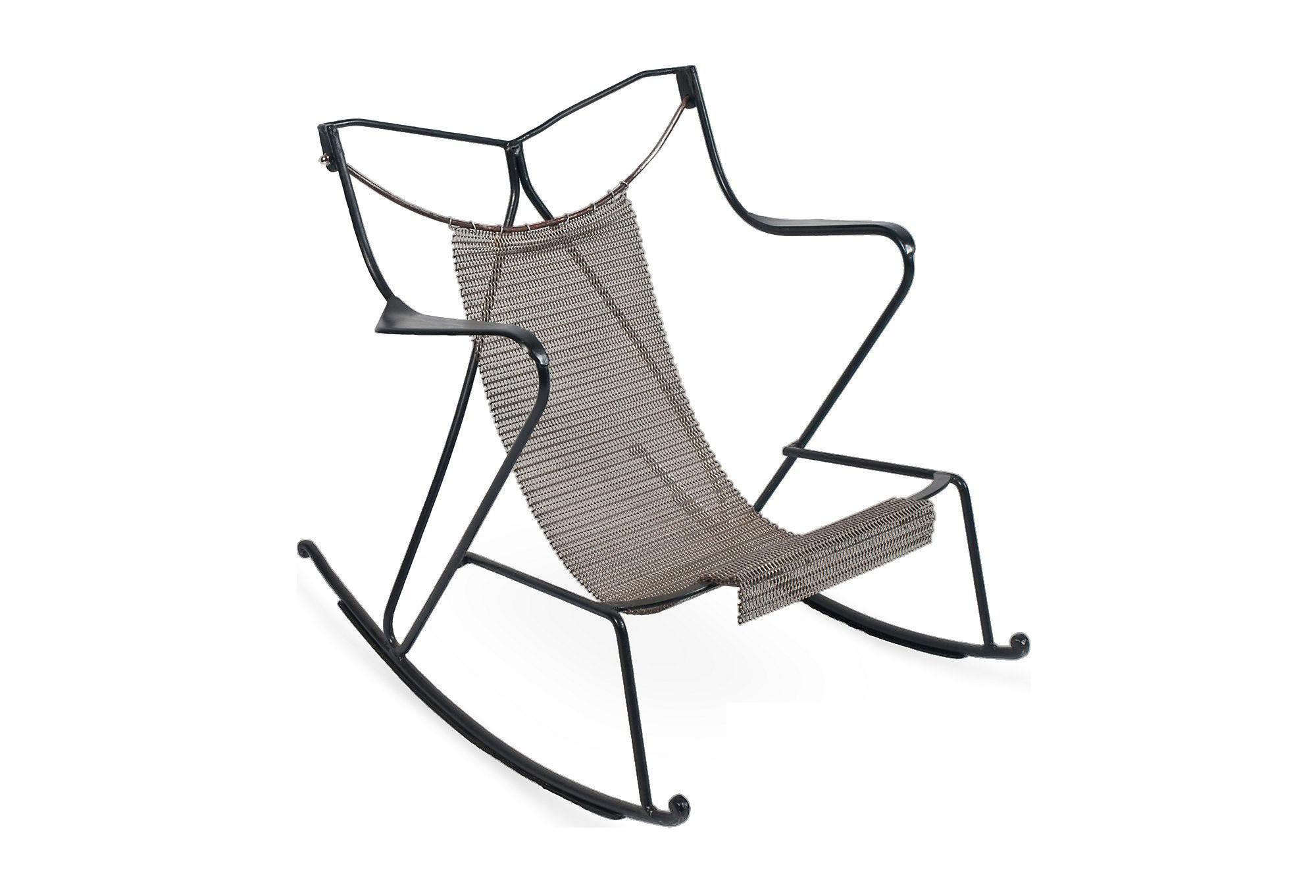 Black Metal Rocking Chair   Image 1 Of 6