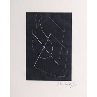 """John Tandy, """"Untitled 2"""", Abstract Woodcut For Sale"""