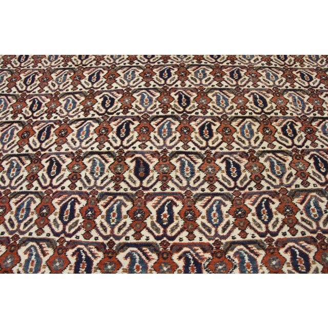 Early 20th Century Antique Persian Afshar Rug - 05'01 X 06'03 For Sale - Image 5 of 9