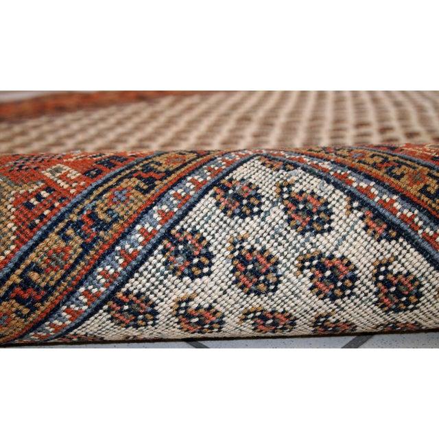 Vintage Handmade Indian Seraband Style Rug - 4′ × 5′8″ - Image 6 of 10