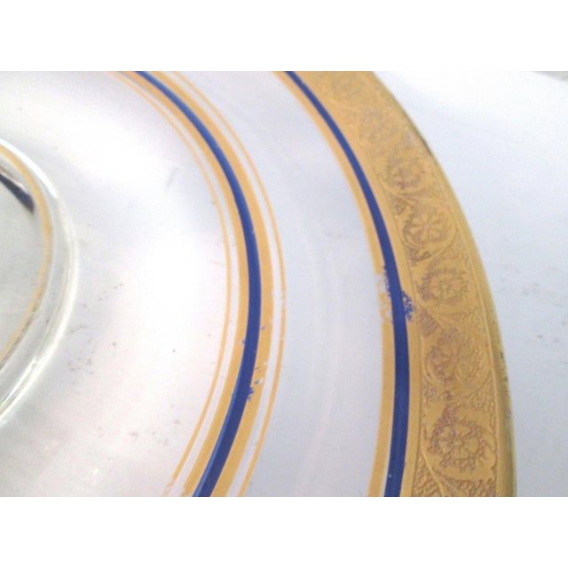 Vintage Gold & Navy Blue Glass Tidbit Plate - Image 5 of 5