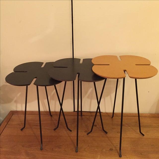 Vintage Clover Leaf Nesting Tables - Set of 3 - Image 2 of 11