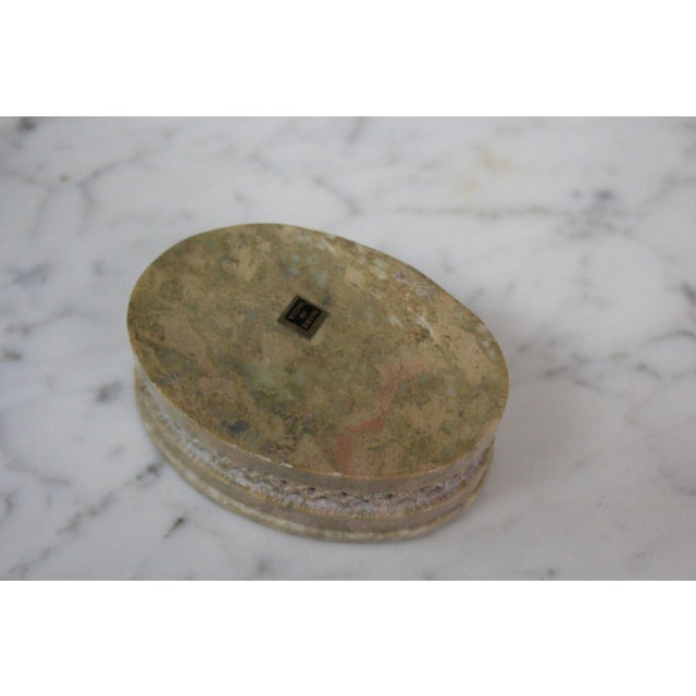 1960s Vintage Soapstone Indian Box For Sale - Image 4 of 8