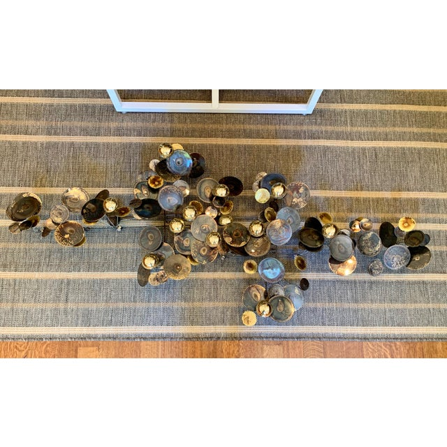 Gold 1990s C. Jere Raindrops Brass Wall Sculpture For Sale - Image 8 of 8