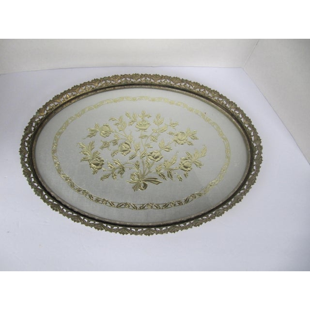 Brass Hollywood Regency Vanity Tray For Sale - Image 7 of 7