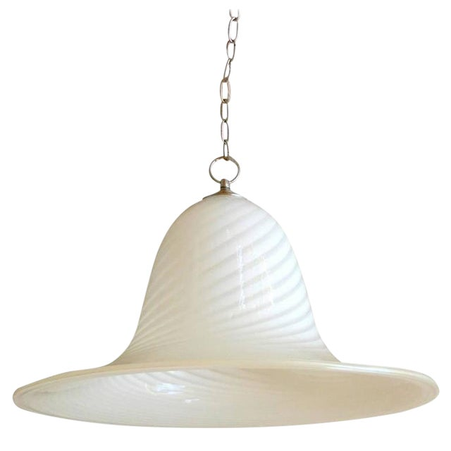 1960s Murano Art Glass Pendant Light Fixture For Sale