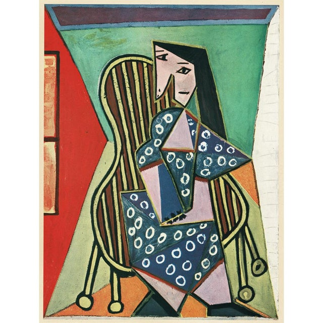 "Blue 1943 Picasso Original ""Femme Assise"" Period Lithograph For Sale - Image 8 of 10"