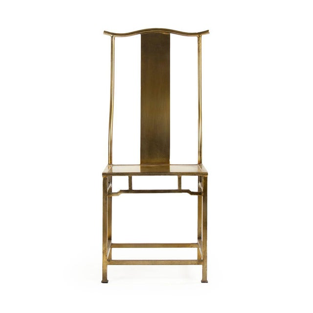 2020s Goerge Side Chair in Gold For Sale - Image 5 of 5