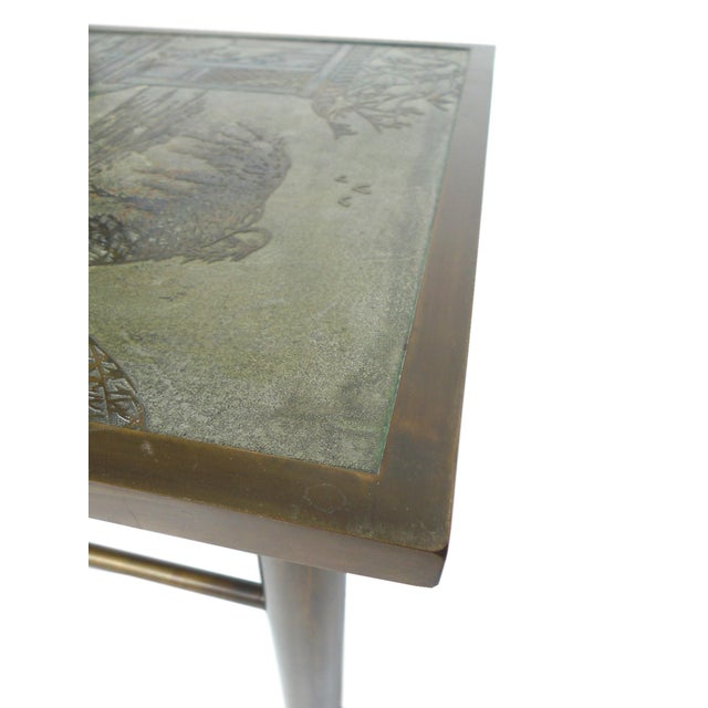 Philip & Kelvin Laverne Etched Bronze Coffee Table For Sale - Image 10 of 11