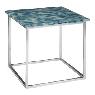 Phillips Collection Fused Glass, Blue, White For Sale