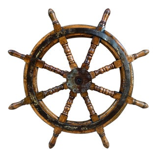 Early 20th Century Ship's Helm Wheel For Sale