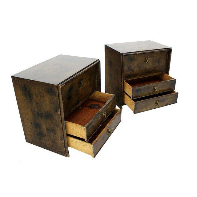 Pair of mid-century modern nightstands by Paul Frankl