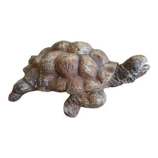 Cast Iron Tortoise Garden Ornament For Sale