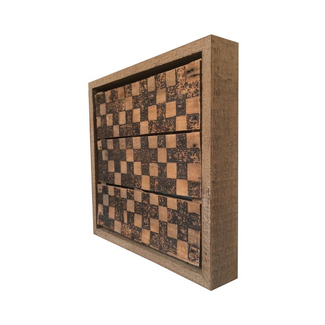 Wooden Checkerboard Wall Art by Billy Turtle - Image 2 of 2