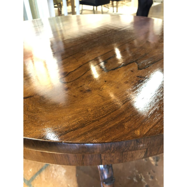19th Century English Regency Rosewood Pedestal Table For Sale In Atlanta - Image 6 of 10