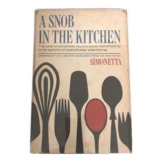 "1967 ""A Snob in the Kitchen"" First Edition Cookbook For Sale"