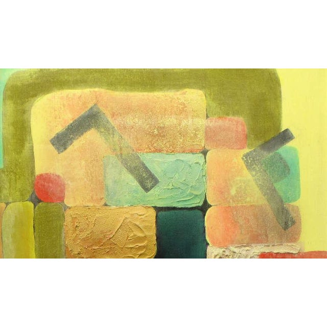 Abstract Relief Cubist Inspired Mixed Media on Canvas For Sale - Image 4 of 8