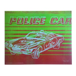 "Andy Warhol Foundation Vintage Pop Art Poster Print "" Police Car "" 1983 For Sale"