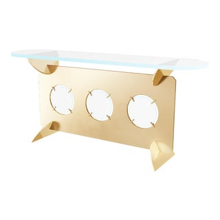 21st Century Contemporary Hand Made Custom Console by Troy Smith For Sale
